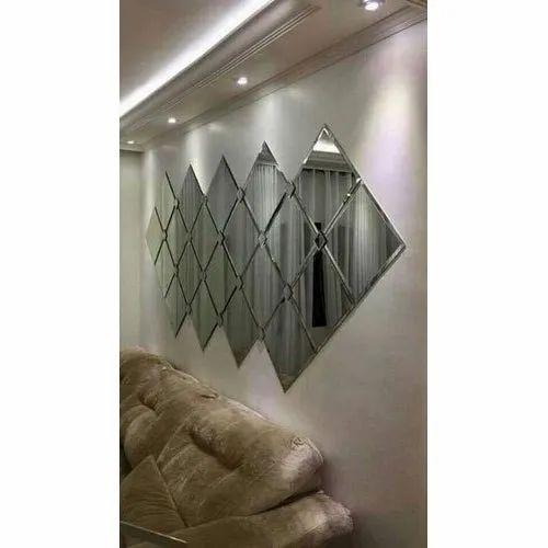 Unique Glass Square Wall Decorative, Wall Decor Mirror For Living Room