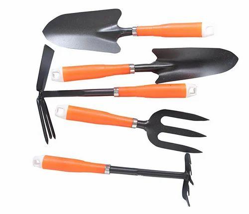 . Nature Select Gardening Tools Set Of 5 Orange Pieces