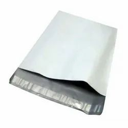 Recyclable White Plastic Courier Bag, Thickness: 10 micron, Size: 12 X 8 Feet