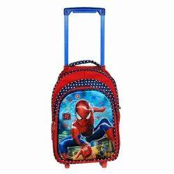 Polyester Kids Trolley School Bag