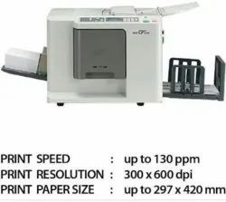 Digital duplicator CV3230 (Riso), Supported Paper Size: B4