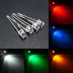 LED 5mm Clear and Diffused Red / Green / Parrot Green / Yellow / Blue / Amber / Orange / White