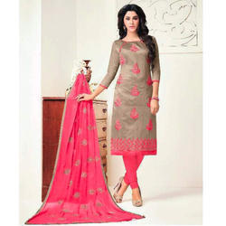 Chanderi Casual Wear Ladies Designer Suit