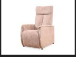 Fabulous Recliner In Camel Brown Fabric Squirreltailoven Fun Painted Chair Ideas Images Squirreltailovenorg