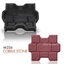 M234 Cobble Stone Concrete Paver Rubber Mould
