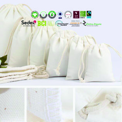 Drawstring bags Linen cotton