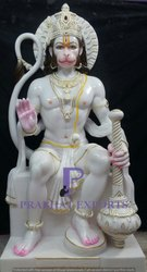 White Marble Lord Hanuman Statue