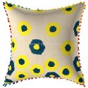 Embroidery Suzani Hand Work Pom Pom Pillow Cushion Cover