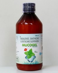 Mucogel Syrup Antiflatulent Antacid Suspension, Packaging Size: 200 ml, Packaging Type: Bottle
