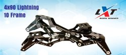 4 X 90 Lightning 10 Inline Skate Frame