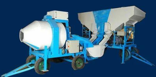 Tilting Drum Mixer Heavy Duty Mobile Reversible Concrete Mixer, Capacity: 15 M3/hour