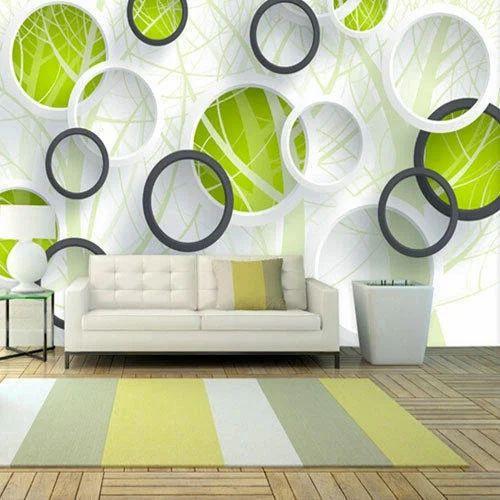 Vinyl Modern 3D Circle Wallpaper