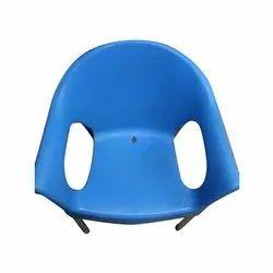 Cello Blue Plastic Designer Chair, Warranty: 1 Year