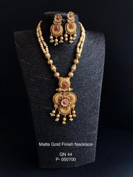 Golden Tigridia Necklace