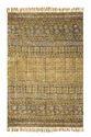 Yellow Rectangular Kosher - Handmade Cotton Floor Rug, Size: 48 X 72 In
