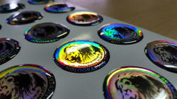 Custom Made Hologram Dome Stickers, Packaging Type: Standards
