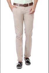 Beige 100% Cotton Peter England Trousers Etf31704277