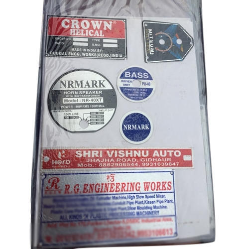 Printed MS Label Plate, Packaging Type: Packet