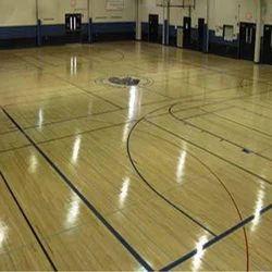 Indoor Wooden Look Sports Court Flooring