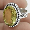 Swanky Labradorite Rough Stone Sterling Silver Ring