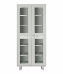 Gray Office Wardrobe with Glass Door, Warranty: 1 Year
