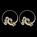Mandala Spiral Women Designer Brass Party Wear Earring