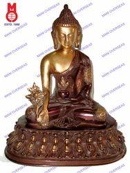 Lord Buddha Medicine (Asthmangal) W/Oval Base Statues