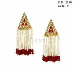 Indian Designer Pearl Tassel Earring