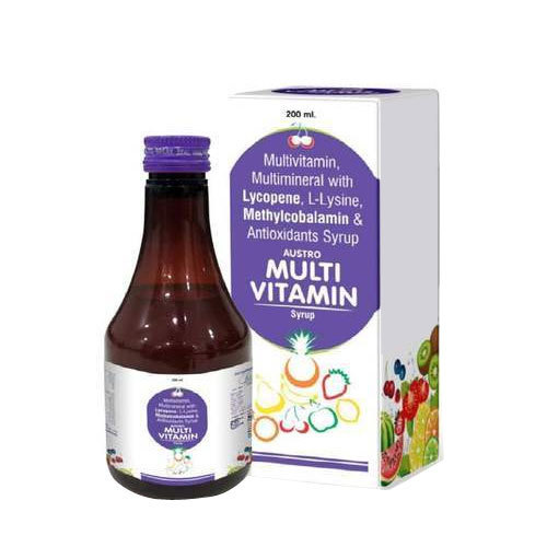 Multivitamin Multimineral With Lycopene L Lysine Methylcobalamin And  Antioxidant Syrup