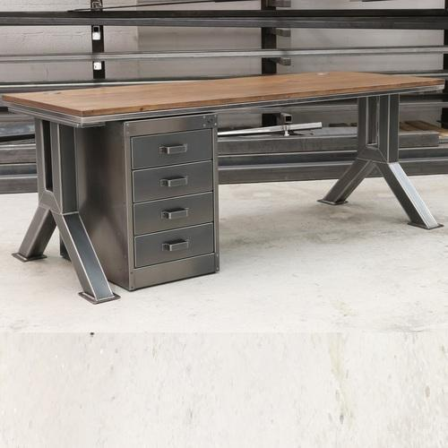 mild steel vintage industrial office desk warranty 1 year rs rh indiamart com industrial office desk uk industrial office desk with drawers