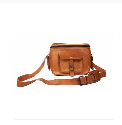 Vintage Brown Genuine Leather Handmade Camera Bag