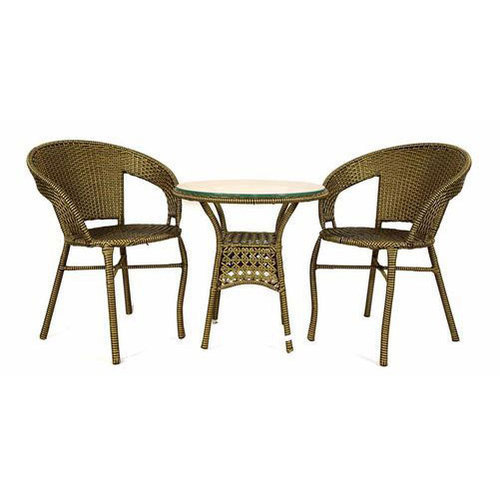 Woven Wicker Patio Dining Table