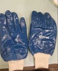 Nitrile Full Dipped Hand Gloves Wrist Type