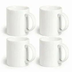 24 x White Coffee Mugs Plain Blank 11oz Large Handle Sublimation Mugs with Free Gift Box