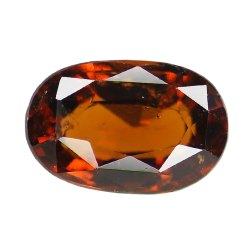 Oval Orangey Red Unheated Gomed Stone