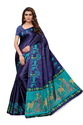 Women's Printed Khadi Silk Saree With Blouse Piece