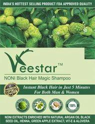 Veestar Black Noni Hair Dye Shampoo, Packaging Type: Pouch
