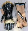 Steel Armour Knight Crusader Arm Gloves with Leather Liner Halloween Party Costume Larp Role Play