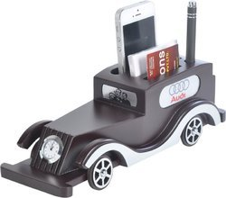 Car Shape Wooden Table Pen Stand