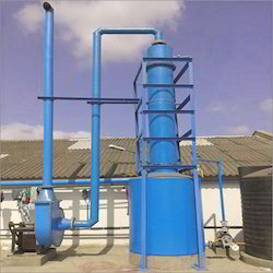 Air pollution control scrubber - Zinc White Fume Exhaust System