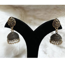 Oxidized German Silver Short Jhumki