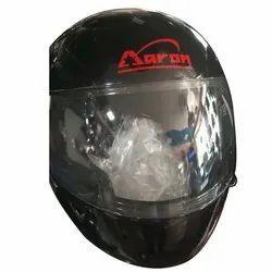 Fiberglass Full Face Aaron Black Helmets, Size: Xl, For For Driving Bikes