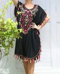Embroidered beach kaftan