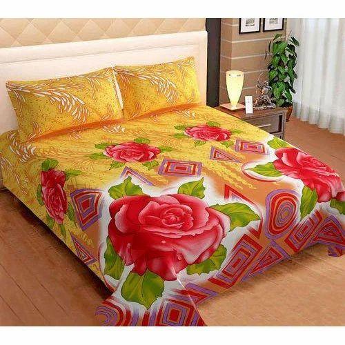 printed cotton designer bed sheet set size 90x100 inch rs 325
