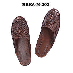 Korakari Handmade Half Kolhapuri Shoe for Men, Size: 6-12