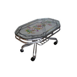 Silver Stainless Steel Decorative SS Dining Table