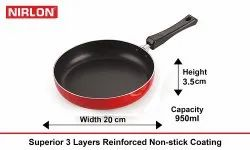 Nirlon Non Stick Coated Cookware Set, Fry Pan 20cm, Non-Stick Aluminium Cookware Frying Pan