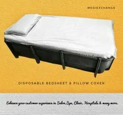 White Disposable Bed Sheet And Pillow Cover, Size: 36 x 72
