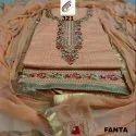 Fancy Neck Cotton Dress Material