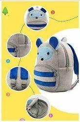High Quality Soft Grey Reccon Velvet Plush Bag for Children